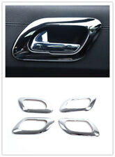For Peugeot 3008 2009-2015 ABS Chrome Interior Door Handle Bowl Frame Trim 4pcs