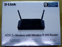 ADSL2/2+ Modem with Wireless N 300 Router DSL-2740B