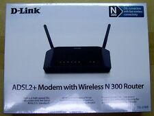 DLink ADSL2/2+ Modem with Wireless N 300 Router DSL-2740B
