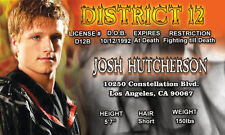 Josh Hutcherson PEETA Mellark District 12 The Hunger Games  Drivers License