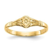 Genuine 14k Yellow Gold Oval Flower Baby Ring  0.74 gr