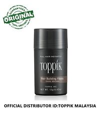 Toppik Hair Building Fiber 12G DARK BROWN (OFFICIAL DISTRIBUTOR MALAYSIA)