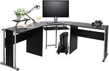L Shaped Desk Home Office Computer Corner Table Gaming Study Laptop Workstation