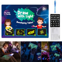 Light up Drawing Fun Developing Toy Draw Sketchpad Board Portable for Children