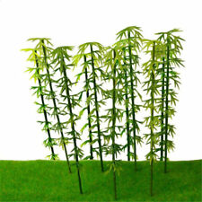 10PCS Plastic Model Bamboo Trees Rainforest Scenery Diorama 6-15cm Decor