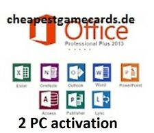 Microsoft Office 2013 Professional Plus MS Office Pro for 2 PC key por correo electrónico