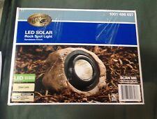Hampton Bay LED Solar Rock Spot Light with Sandstone Finish 1001 486 697