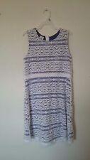 Girls summer Dress size XL 14-16, Route 66 blue white lace sleeveless -11