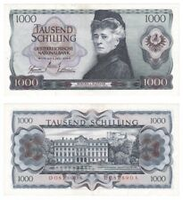 1966 Austria 1000 Schillings Banknote - P.147 - aEF.