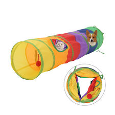 Pet Cat Tunnel Toy Rabbit Pop Up Tube Collapsible 2 Way Puppy Kitten Play Toy UK