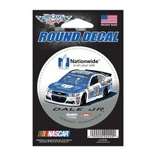 """Dale Earnhardt Jr 2017 Wincraft #88 Nationwide Insurance Round Decal 3"""" FREE"""