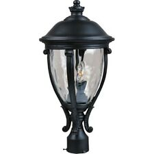 Maxim Camden VX 3-Light Outdoor Pole/Post Lantern Black - 41421WGBK