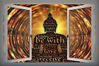 3D PVC Window View Wellbeing Buddha Meditation Wall Sticker Poster M3-37