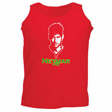 Art T-shirt, Canotta Neymar Jr, Uomo Man, Rosso