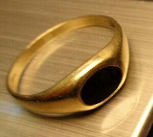"""""""333 GOLD eleganter DAMEN SIEGELRING""""VORSTECKRING ovaler Onyx Größe:60 1,5 Gramm"""