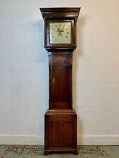 More details for a rare & beautiful 240 year old georgian antique oak grandfather clock. c1780