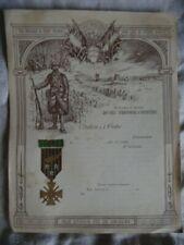 CITATION A L'ORDRE VIERGE 29ème RI TERRITORIAL  1914-1918 : CROIX DE GUERRE