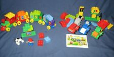 Lot Lego DUPLO My First 10552 CREATIVE CARS Set 10558 NUMBER TRAIN 100% COMPLETE