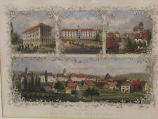 Frauenfeld Schweiz n. Zeichnung Rüdisühli Stahlstich col. C. Mayer Nürnberg 1830