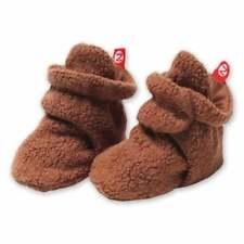 NWT Original Zutano Baby Booties 6M Chocolate Brown Stay-On Fleece Infant Socks