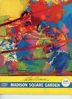 LeRoy Neiman Signed 1972 Madison Square Garden Fight Program PSA Quarry Young