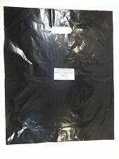 "100 Qty. 15"" x18"" x4"" Black Glossy Low Density Merchandise Retail Shopping Bags"