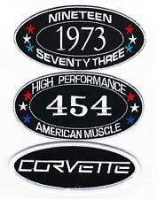 1973 CHEVY CORVETTE  454 SEW/IRON ON PATCH EMBLEM BADGE EMBROIDERED STINGRAY