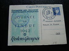 FRANCE - carte 1er jour 19/4/1942 (journee du timbre) (cy54) french (Z)