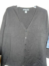 """MY FAVORITE THINGS BY COLLEEN LOPEZ""""Black Button Front, V-Neck Cardigan"""" Size 1X"""