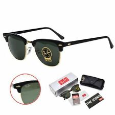 Ray-Ban Clubmaster Sunglasses RB3016 W0365 G-15 Lens 51mm Black / Gold Frame
