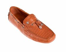 NIB $5K Stefano Ricci Genuine Crocodile Driver Shoes 7 / 8 Hand-made in Italy
