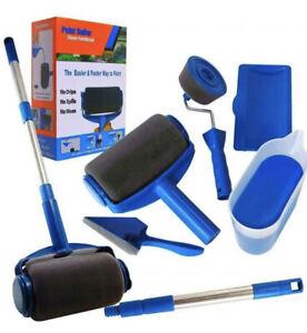 8PCS Paint Runner Pro Roller Brush Set Room Decorating Handle Tools Kits
