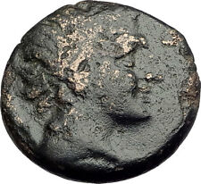 PELLA Macedonia Original 146BC Authentic Ancient Greek Coin PAN & ATHENA i62439