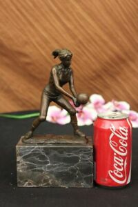 Bronze Cup Female Volleyball Player after Milo. bronze and handmade Decor Figure
