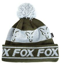 Fox Green and Silver Lined Bobble Hat NEW Carp Fishing Winter Hat - CPR990 85ae57a378d2