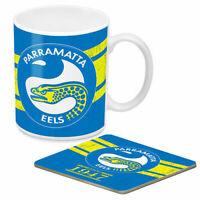 Parramatta Eels NRL Heritage Ceramic Cup Mug & Coaster Gift Set