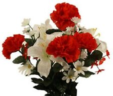 Red Carnation White Lilly Bouquet refill (Diy)