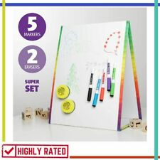 WHITE BOARD Dry Erase Whiteboard for Kids Education Writing Drawing By DESKARY
