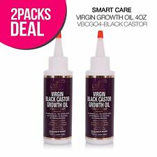 Virgin Black Castor Growth Oil 4oz (Infused with Biotin and Niacin) 2 Pack Deal!