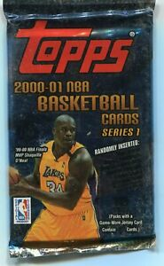2000-01 Topps Basketball Series 1 Factory Sealed Pack 8 Cards Autos Jerseys KOBE