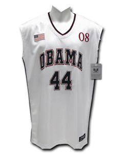 Barack Obama 45th President #45 White Sleeveless Basketball Jersey