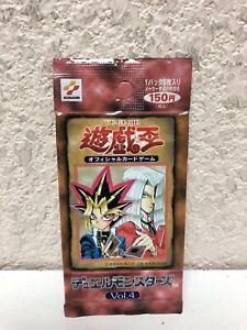 Yugioh Pack Vol 4 Japanese Konami 1999 OCG Original Yu-gi-oh Volume 4 Sealed