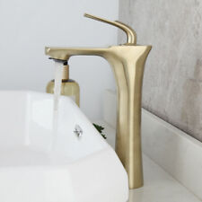 Brushed Gold Bathroom Bath Tub 1 Handles Taps Mixer Wall Mount  Spout Faucet