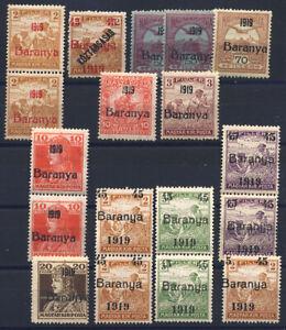 BARANYA,Ungarn,Jugoslawien,WWI,1919,Freimarken,postfrisch Lot