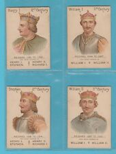 ROYALTY - MAZAWATTEE TEA - SET OF L 39 KINGS & QUEENS OF ENGLAND CARDS  -  1902