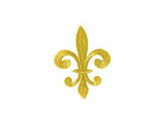 1 x Lurex Gold Applikationen Patch Fleur de Lis Medieval?Mittelalter?ArtNr:16-3G