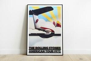 The Rolling Stones American Tour 1972 Poster by John Pasche Pretty Gift For Home