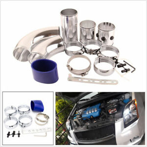 Universal 3inch Cold Air Intake Filter Piping Intercooler Alumimum Set Combined