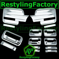 09-14 Ford F150 Chrome Mirror+4 Door Handle+keypad+PSG keyhole+Tailgate Cover