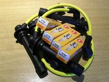 Yellow HT leads & NGK spark plugs lead set, Mazda MX5 mk1 1.6 1.8 Eunos, 1989-98